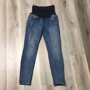Gap Maternity True Skinny Jeans Belly Band Clip 2